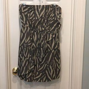 gap strapless high waisted dress size 6